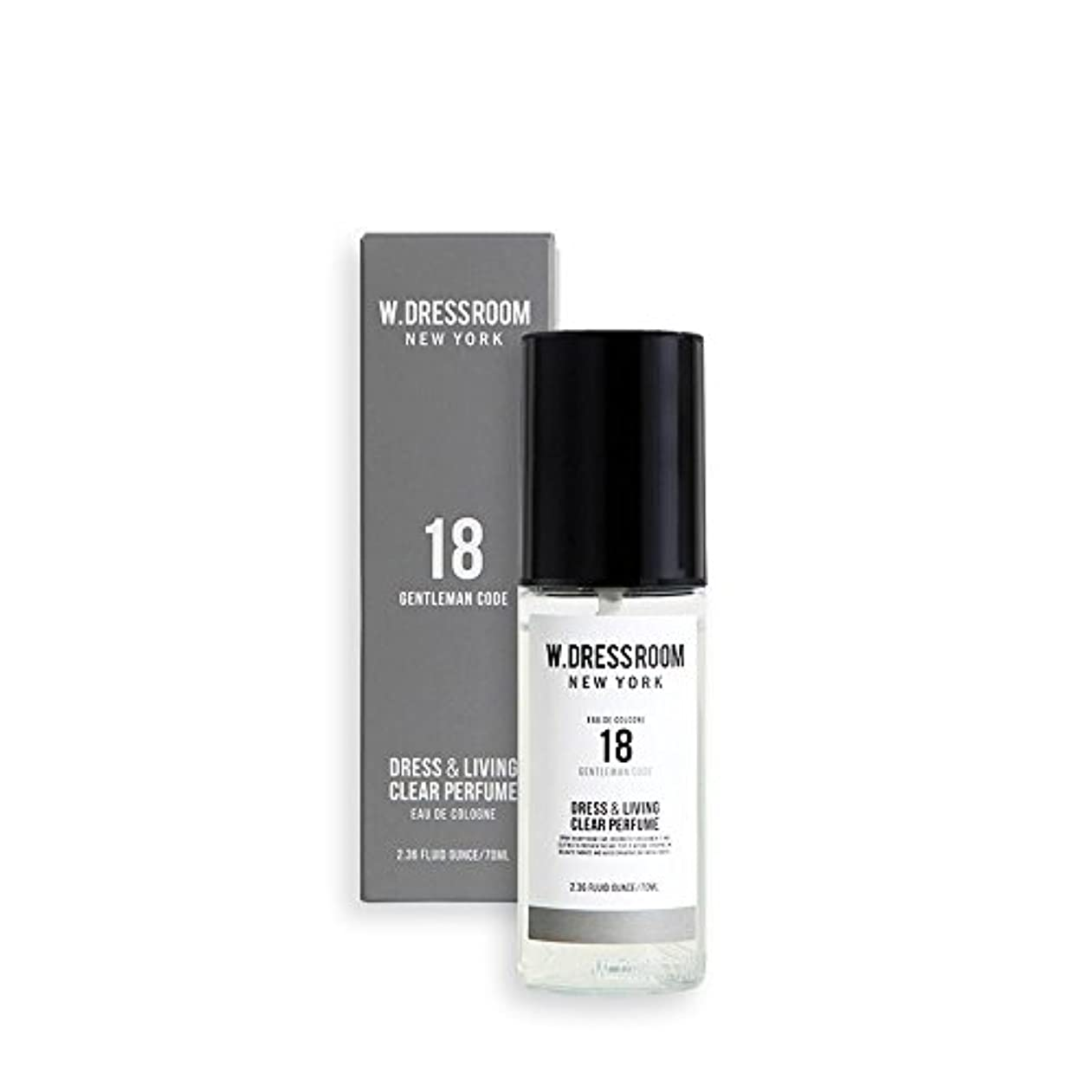 ハドルから聞く失W.DRESSROOM Dress & Living Clear Perfume fragrance 70ml (#No.18 Gentleman Code)/ダブルドレスルーム ドレス&リビング クリア パフューム 70ml...