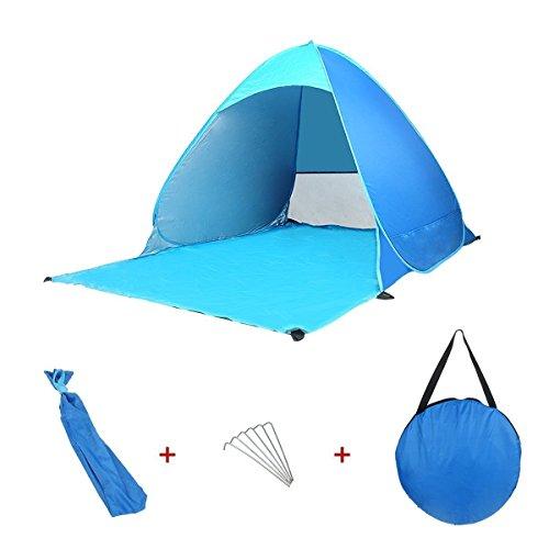 Kingstar ワンタッチテント サンシェード 折り畳み式 UVカット 日除け 簡易ビーチテント 防災 防水 海水浴 登山 釣り キャンプ アウトドア