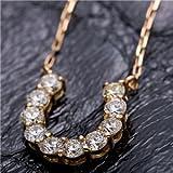 【鑑別書付】K18イエローゴールド 天然ダイヤネックレス ダイヤモンドペンダント/ネックレス0.5ct 馬蹄モチーフ