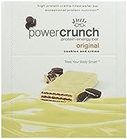 パワークランチ高蛋白エネルギースナック クッキー&クリーム 36gのバー 12/box