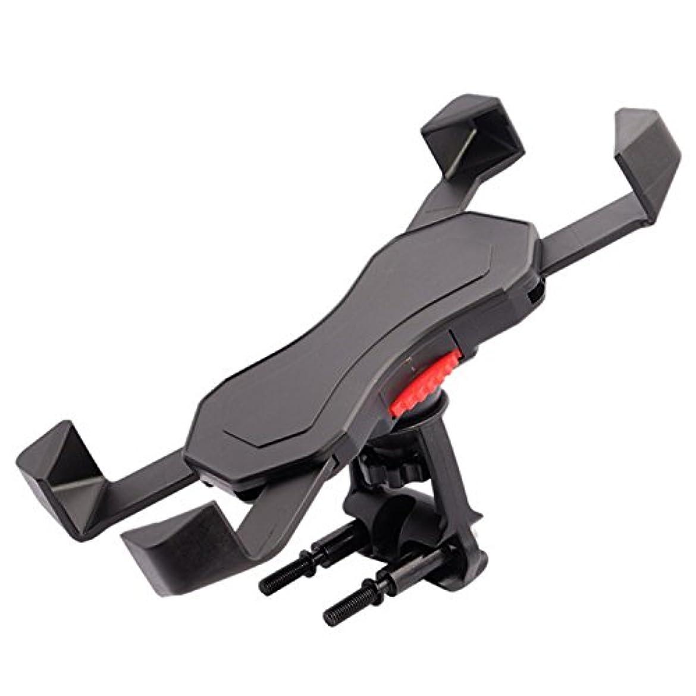 致死パントリー失敗LULUFUN スマホホルダー バイク 自転車スタンド ネジ式 マウンテンバイク?ロードバイクに最適 ガッチリ 四角固定 四つクリップ 3.5~6.5インチ iPhone?Andriod適用