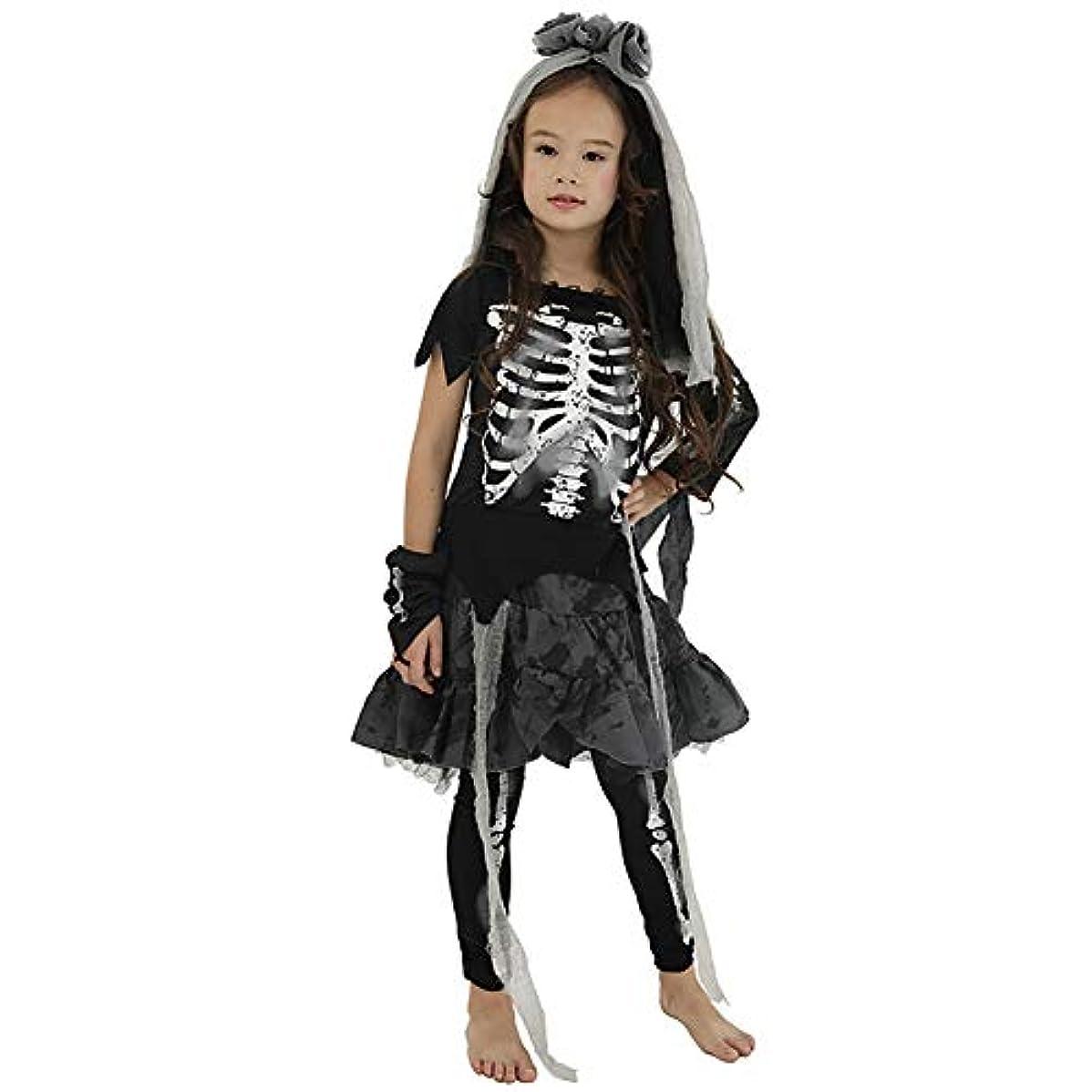 拡大するに負けるリボンKUKUYA(ククヤ) ハロウィン 仮装 どくろ 子供 コスプレ コスチューム 花嫁 女の子 悪魔 キッズ 衣装 halloween