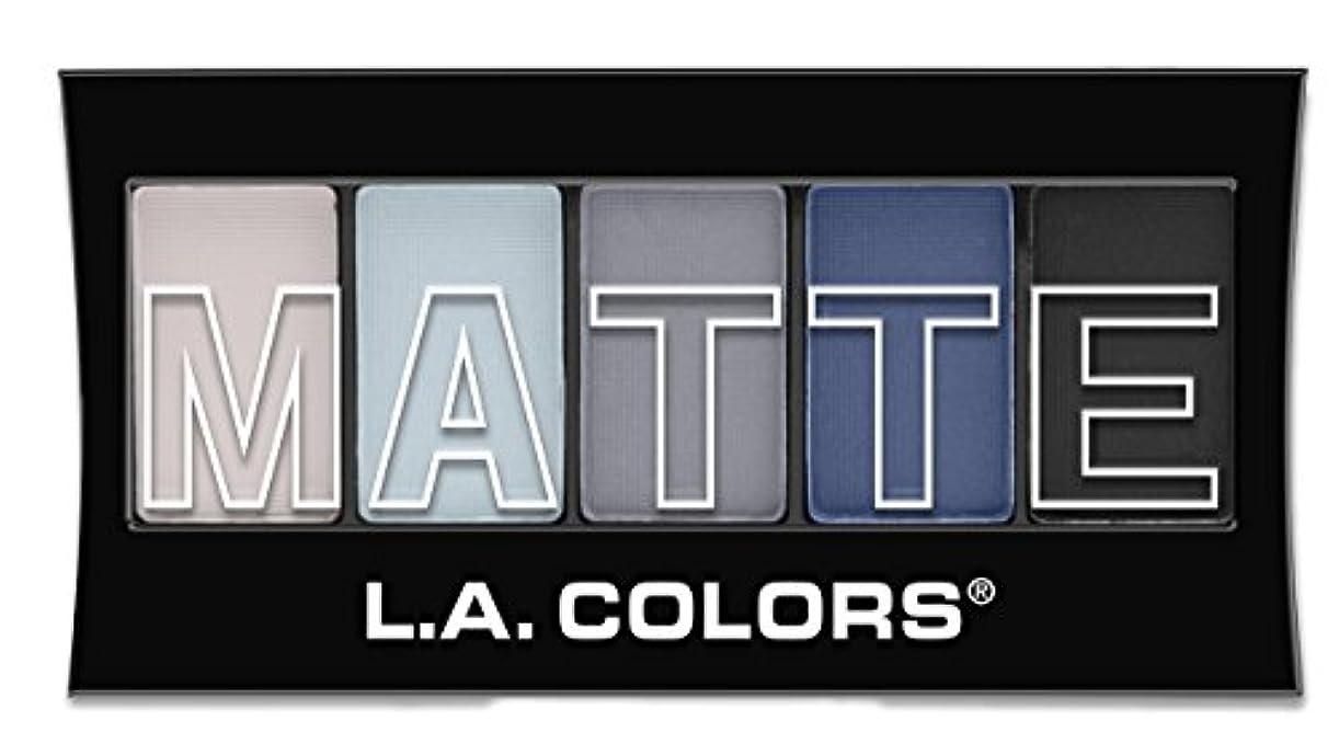あいまい温室もつれL.A. Colors Matte Eyeshadow - Blue Denim (並行輸入品)
