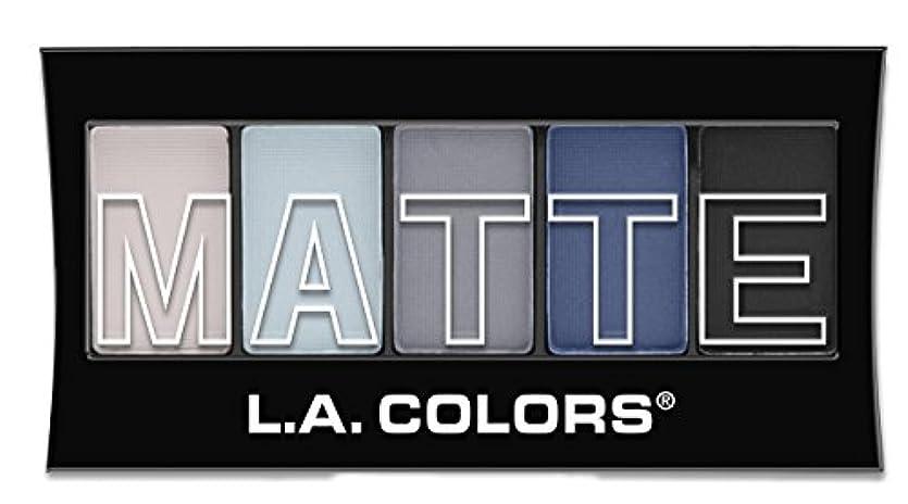 株式マングル正義L.A. Colors Matte Eyeshadow - Blue Denim (並行輸入品)
