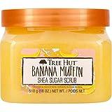 Tree Hut Banana Muffin Shea Sugar Scrub 18 Oz! Formulated With Real Sugar, Certified Shea Butter And Banana Extract! Exfoliat