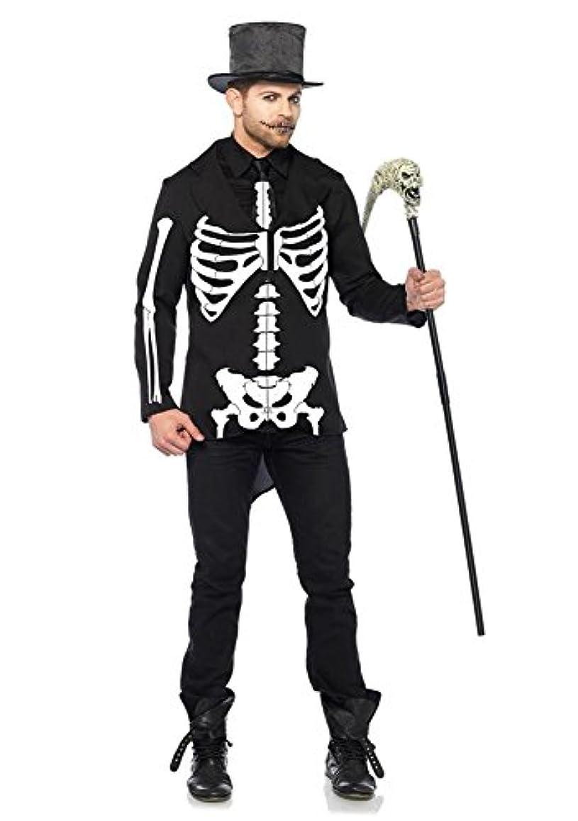 鳩合成健康的Leg Avenue メンズ スケルトン 骸骨 ガイコツ 2点セット 男性用 LG-85601 コスプレ L