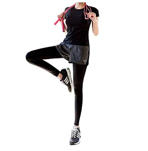[해외]FAST 요가 반바지있는 롱 스타킹 레깅스 흡한 속건 댄스 체조 달리기 헬스 클럽 트레이닝 복 스패츠 일체형 프리미엄 팬츠 (S 사이즈)/FAST yoga wear short pants wear long tights leggings sweat fast dry dance exercise running fitness gym tr...