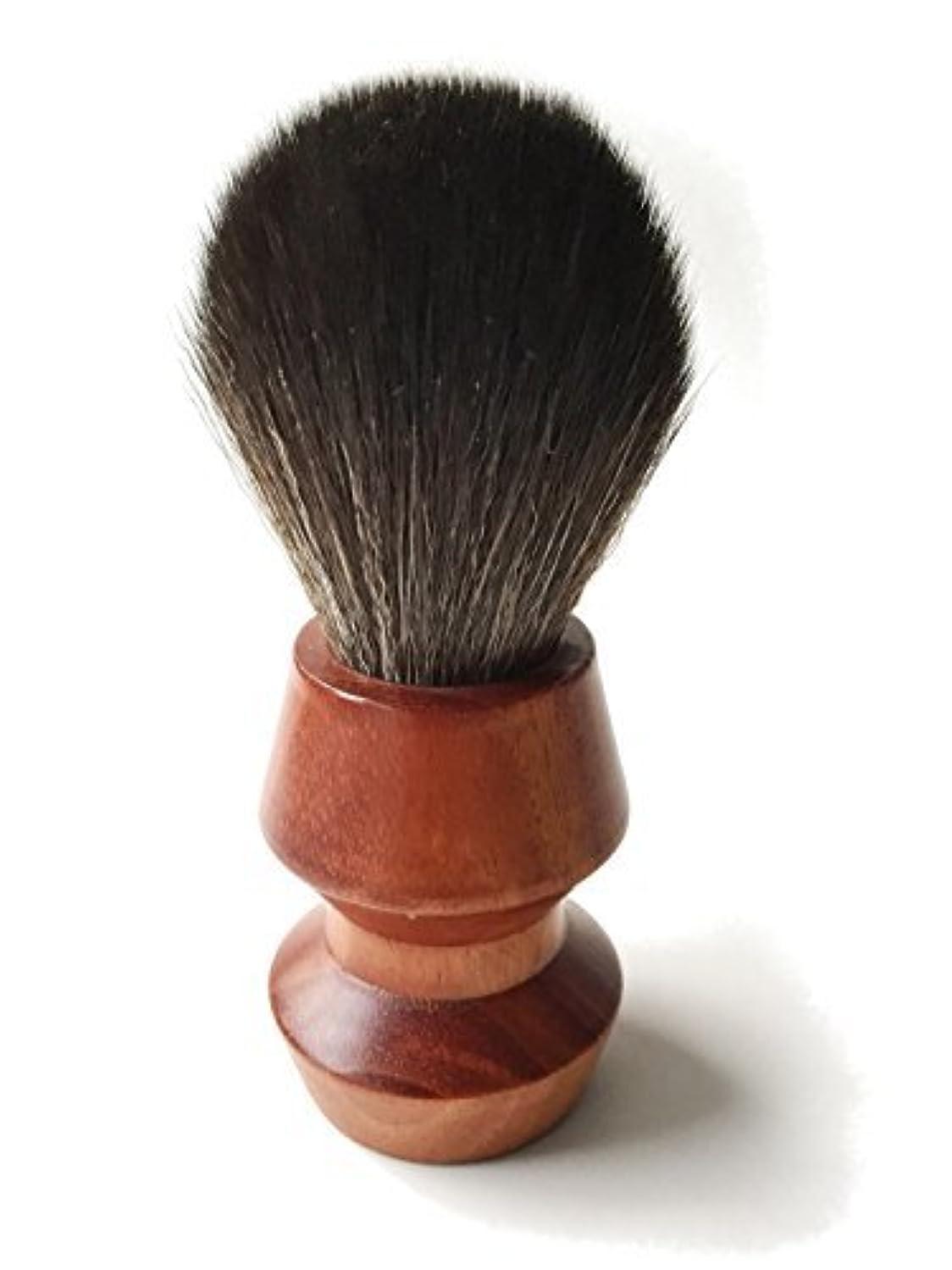 敵対的象繁殖Paragon Shaving Brush - Luxury Handcrafted Soft Black Synthetic Fibers in Solid Mahogany Handle [並行輸入品]