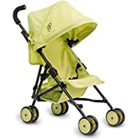 Triokid My First Baby Doll Stroller Miniline Lemon Green Travel Stroller Portable Stroller Drawable Fabric with