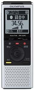 OLYMPUS ICレコーダー Voice-Trek VN-722PC シルバー 4GB+micro SDカードスロット VN-722PC