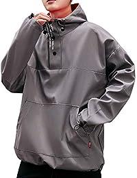 Sen YR マウンテン パーカー 無地 細身 防風 撥水 通気性 薄い 軽い おしゃれ 大きいサイズ メンズファッション ライトアウター