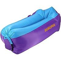 AUKUYEE Air sofa 空気で膨らむ エアーソファー エアベッド アウトドア 休憩 200kgまで荷重 防水 軽量 収納 キャンプ ハイキング 登山 海水浴 プール 浮き輪 リラックス エアクッション