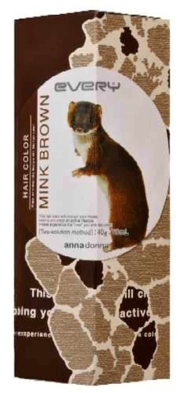 繁殖リスキーなおいしいアンナドンナ エブリ ヘアカラー (ミンクブラウン) 1剤40g 2剤80ml 【HTRC5.1】