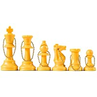Wholesale Chess - Chess Pieces Keychain Set (Yellow) by Wholesale Chess [並行輸入品]