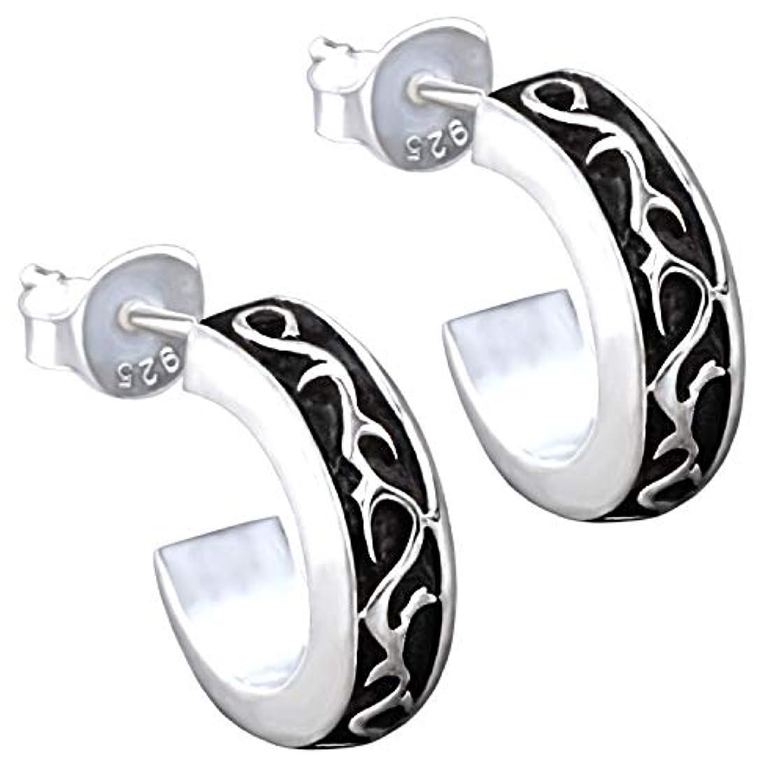 もっと少なく頭痛本気[REOTTI] スタッドピアス ピアス シルバー925 メンズ 両耳 silver earrings