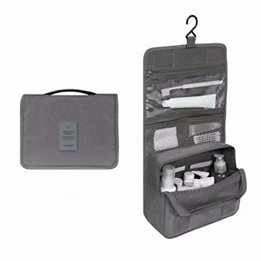 グリル納税者家主トラベルバッグコスメティックコスメティックバッグトラベルバッグバスルームバッグマジックテープフック収納袋コスメティックバッグハンギングトラベル キットの内容:1個