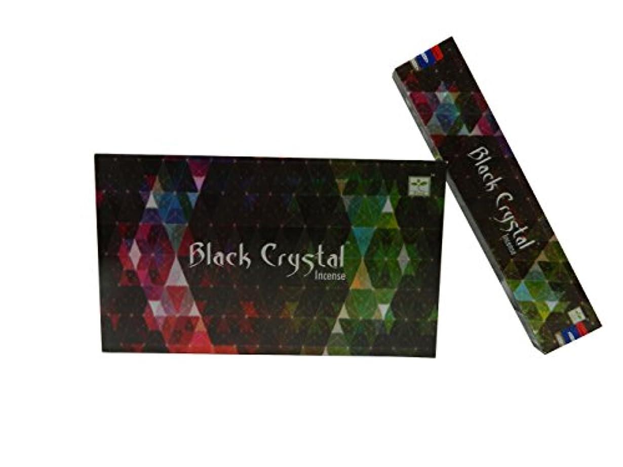ブランド名組み立てる香ばしいSatya Nag ChampaブラッククリスタルIncense sticks-12packs X 15グラム(1 )