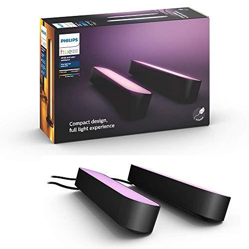 【日本正規品】Philips Hue Play ライトバー 2個セット |バータイプLEDライト2個+専用電源アダプタ1個|ゲーミングライト| ブラック 915005879301