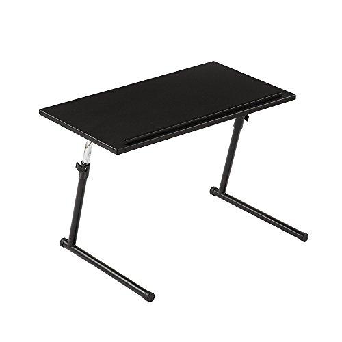 【角度調節可】【幅69×奥行45.5×高さ43~67cm】折りたたみ 昇降式 木製 コーヒーテーブル ブラック