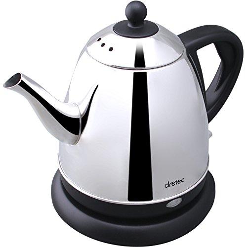 Dretec(ドリテック) ステンレスケトル「マキアート」 電気ケトル ステンレス コーヒー ドリップ ポット 細口 0.8L PO-115BKDI (ブラック)