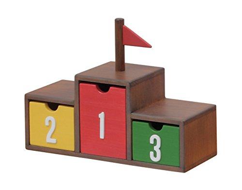 市場(いちばのこ) ノッテコ noteco 表彰台ボックス 幅34×奥12×高さ26cm ブラウン NOR-2939BR