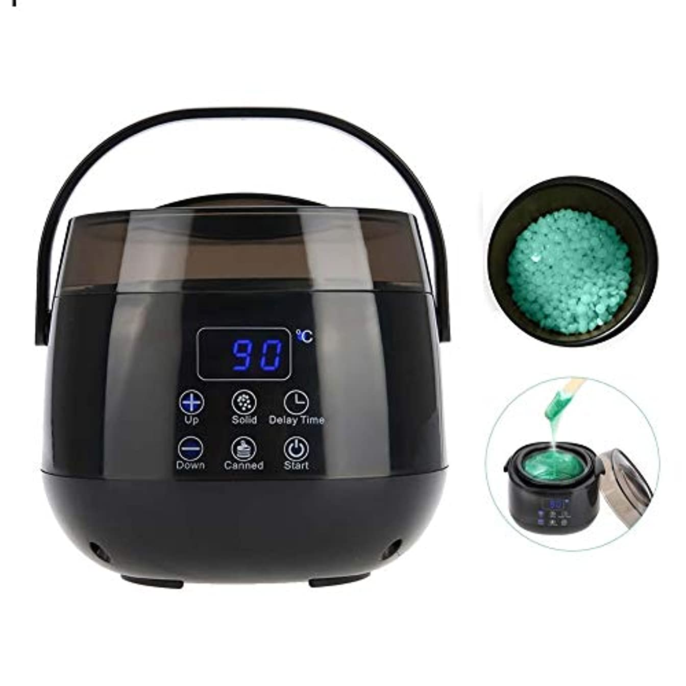 ドループ電圧偽装するワックスマシン、体の髪をきれいにするのは簡単450ml HD LCDスクリーンとの温度調節可能な0?135℃の毛の取り外しのための急速に熱くする堅いワックス機械を取除きます(USプラグ)