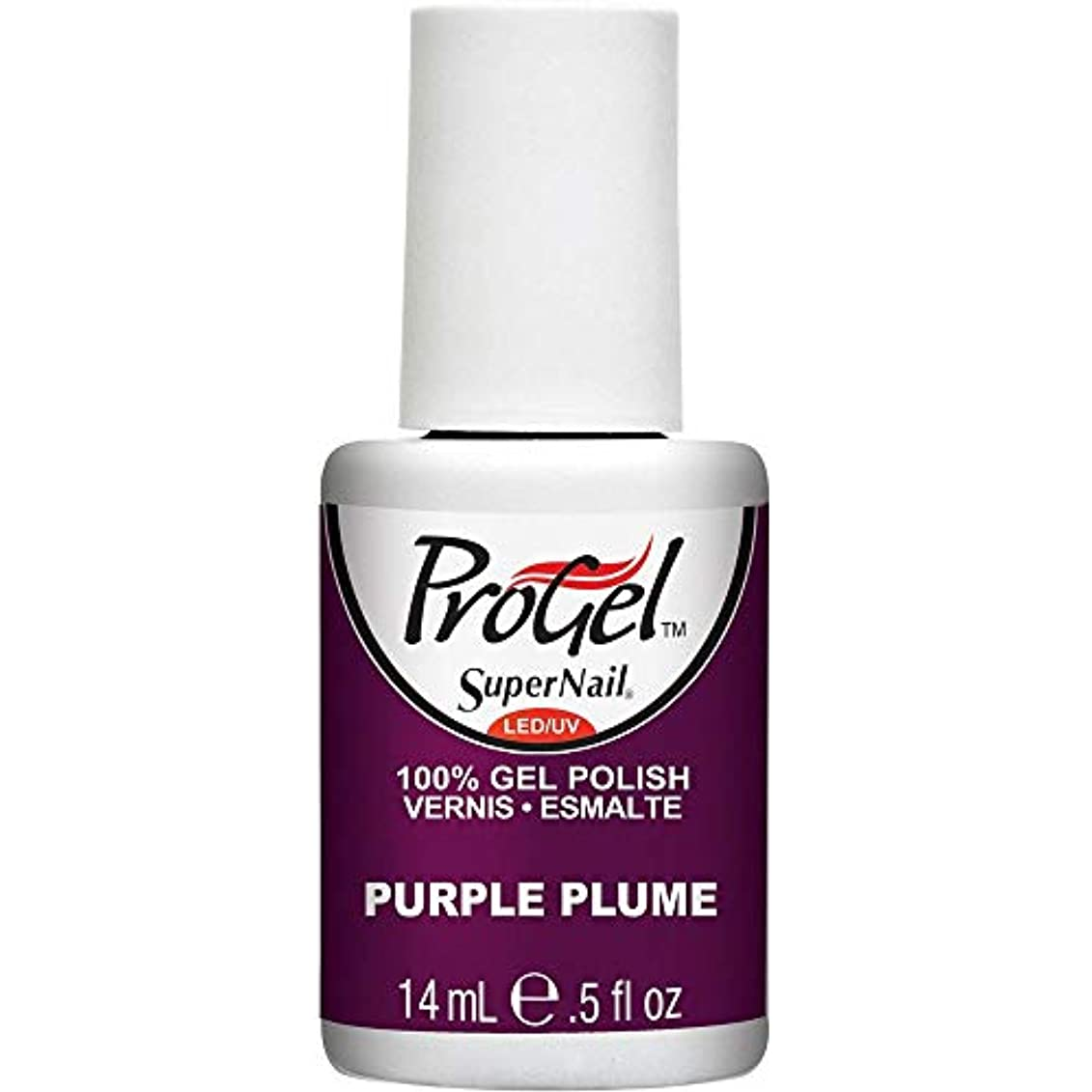 バッジサイレン近傍SuperNail ProGel Gel Polish - Purple Plume - 0.5oz / 14ml
