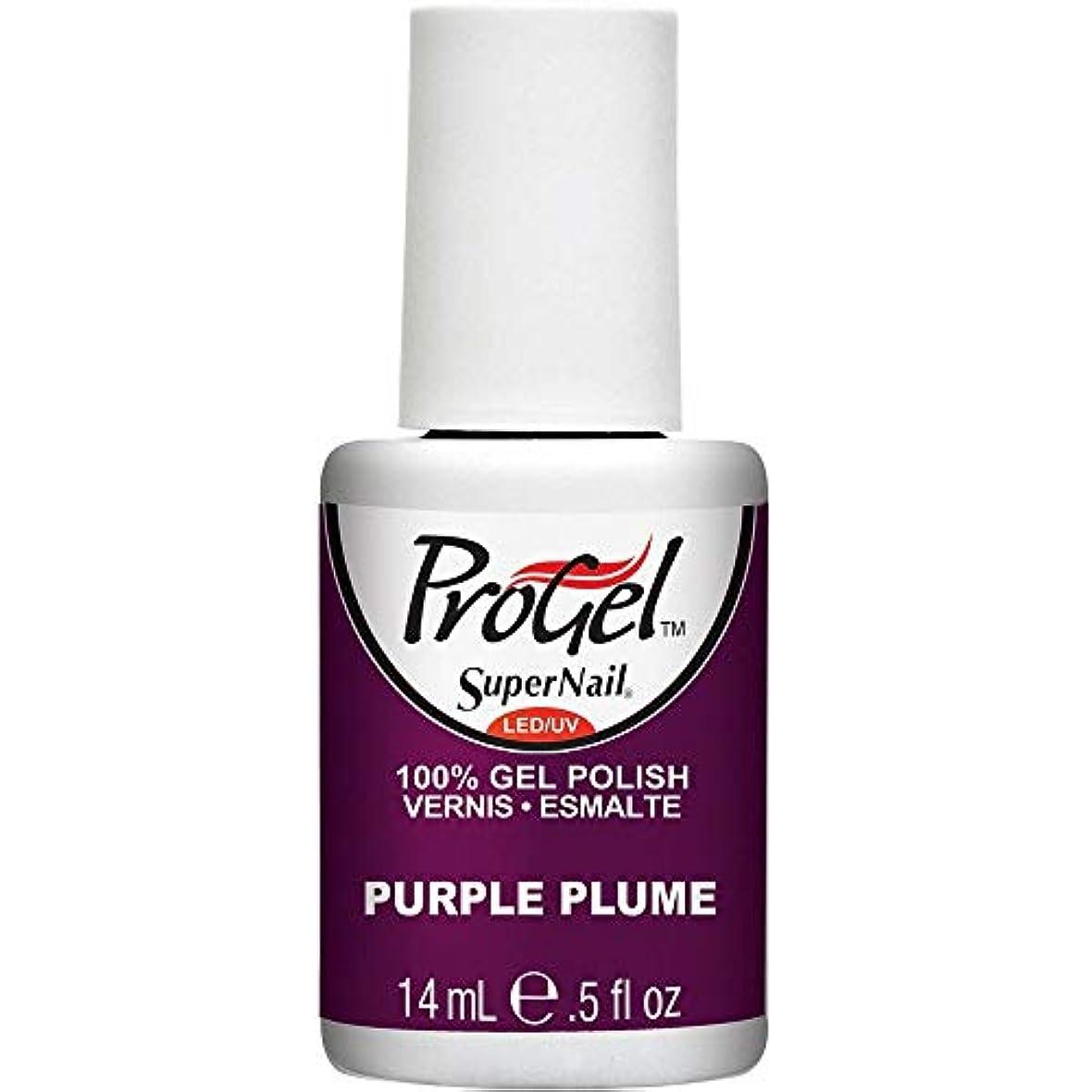 ヘクタール除外するルビーSuperNail ProGel Gel Polish - Purple Plume - 0.5oz / 14ml