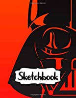 Sketchbook: Duo Blank Sheets Sketchbook Star Wars Gifts Series Movies Soft Glossy The Last Jedi with Blank Lined Paper for Taking Notes Writing Workbook for Teens and Children Students School Kids Inexpensive Gift For Boys and Girls