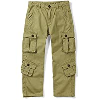 OCHENTA Boys' Cotton Military Cargo Pants, 8 Pockets Casual Outdoor