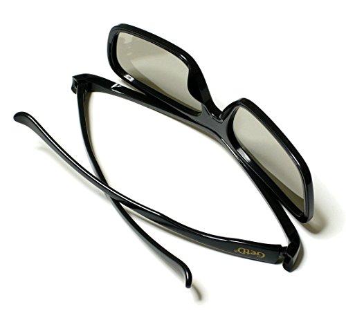 GetD パッシブ・偏光式 3Dメガネ 映画館&テレビ用 【眼鏡の上から装着可能】 CP400GLBR ★2個入り