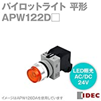 IDEC (アイデック/和泉電機) APW122DPW パイロットライト (φ22) (TWシリーズ) (平形) (LED照光) (AC/DC24V)