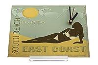 置き時計 Desk Table Clock Globetrotter Woman in bikini Florida Retro Decoration