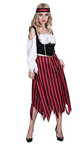 EraSpooky 女海賊 パイレーツ コスチューム ハロウイン 仮装 コスプレ セット