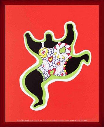 ポスター ニキ ド サンファル Nana Power 2005年 額装品 ウッドベーシックフレーム(レッド)