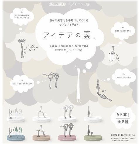 カプセルQミュージアム アイデアの素 vol.1 ノーマル 全8種 海洋堂 ガチャポン ガチャガチャ ガシャポン