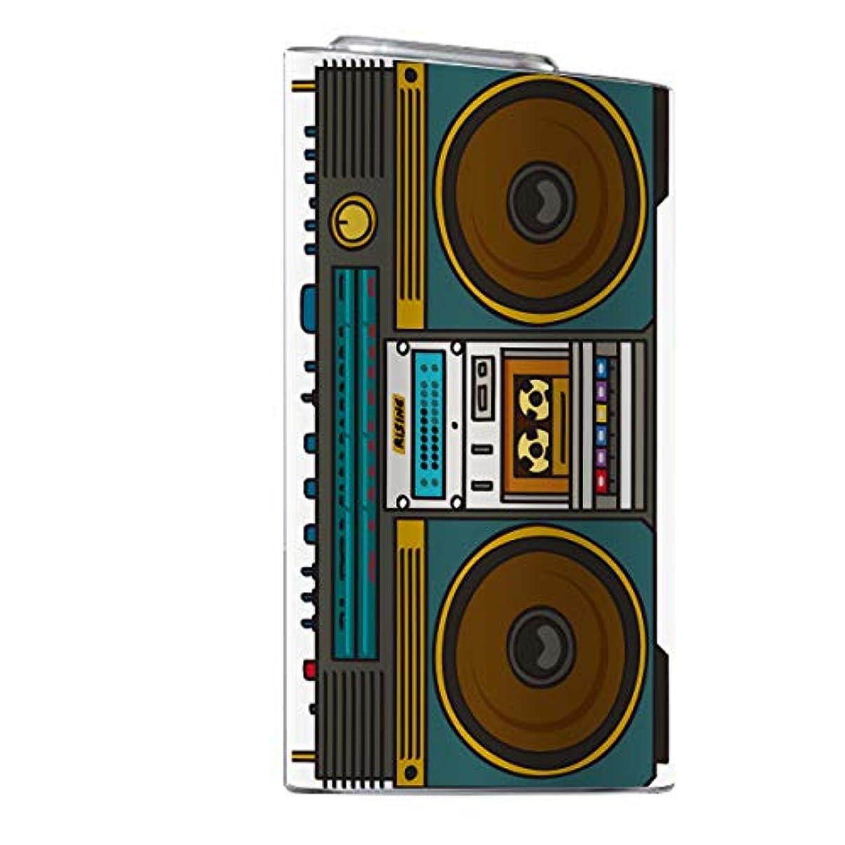 平らなストッキング先入観glo スキンシール 【 glo専用 】 old school テープ ラジカセ boombox hiphop レコード glo グロー 全面対応