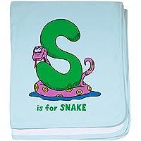 CafePress – Sはfor Snake幼児毛布 – スーパーソフトベビー毛布、新生児おくるみ ブルー 047170347125CD2