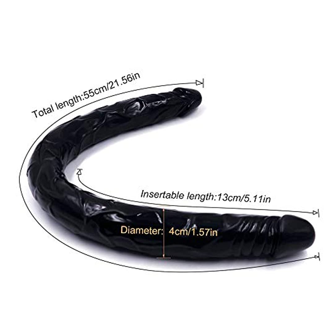 ギャラリー商業のヘルパーQybtoo 21インチの現実的なペニス実フィールぬいぐるみ Qybtoo (Color : Black)