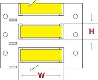 Brady PS-500-2-YL-S PermaSleeve Wire Marking Sleeves 0.851 Height 2.00 Width Polyolefin (B-342) Yellow (Roll of 250) [並行輸入品]