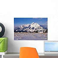 Grand Teton and Jackson Wall Mural by Wallmonkeys Peel and Stick Graphic (18 in W x 12 in H) WM163938 [並行輸入品]