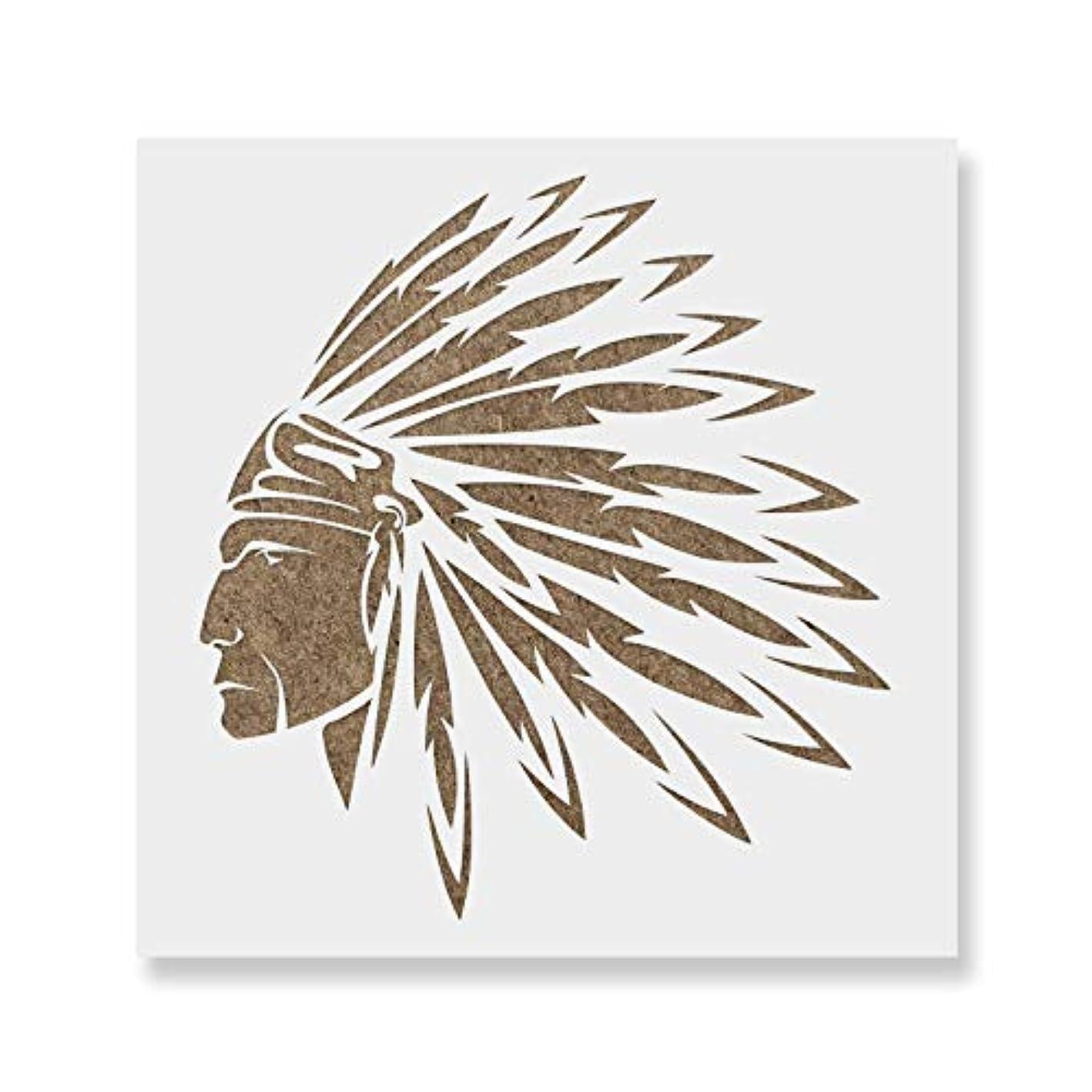 敬意を表する反発トーンネイティブアメリカンインディアンステンシルテンプレート – 再利用可能なステンシルwith複数サイズあり 12