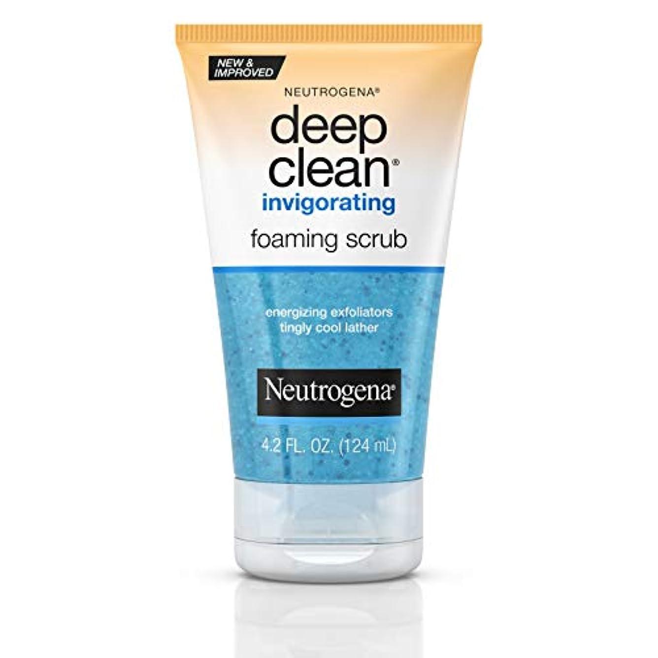 忌まわしい選択する最も早いNeutrogena Deep Clean Invigorating Foaming Scrub ニキビのための皮膚の奥までキレイにする洗顔ジェル125ml