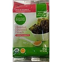 Simple Truth Organic オーガニック Roasted Seaweed Snack Sweet & Salty .17 oz (Pack of 3)