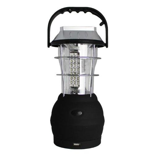 DABADA(ダバダ)LEDランタン 63灯 ソーラー&手動発電ダイナモタイプ シガーソケット付