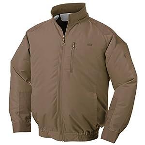 NSP 空調服 服単体 チタンコーティング 立ち襟 肩・袖補強あり キャメル 2L 8208411