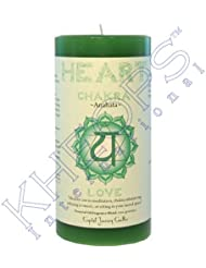 Pillar Chakra Green-Heart Anahata by Treasures Stones Crystals & More [並行輸入品]