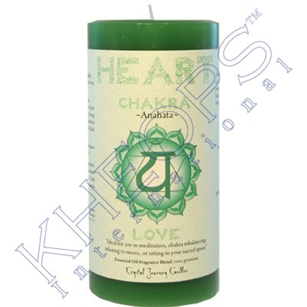 迅速熱心なエイズPillar Chakra Green-Heart Anahata by Treasures Stones Crystals & More [並行輸入品]