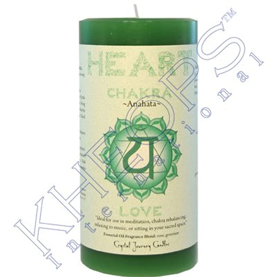 猫背句ムスPillar Chakra Green-Heart Anahata by Treasures Stones Crystals & More [並行輸入品]