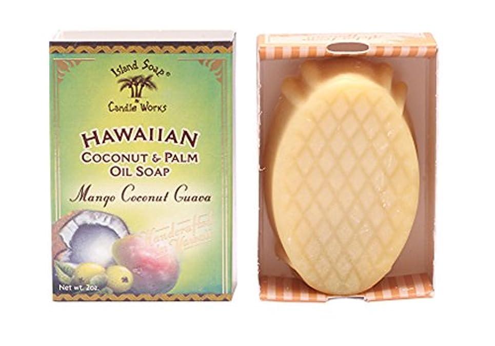 最後の染色休憩するアイランドソープ ココナッツソープ マンゴココナッツ 50g